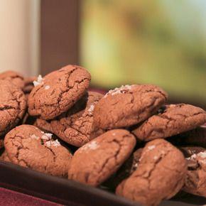 Chocolate Chocolate Chip Cookies with Sea Salt