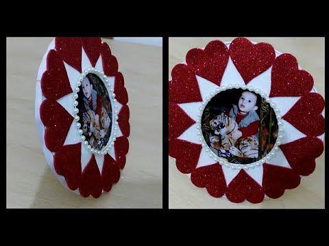هدية بورق الفوم اطار صورة بطريقة بسيطة جدا وغير مكلفة How To Make Photo Frame Youtube Christmas Origami Bottle Crafts Creative Crafts