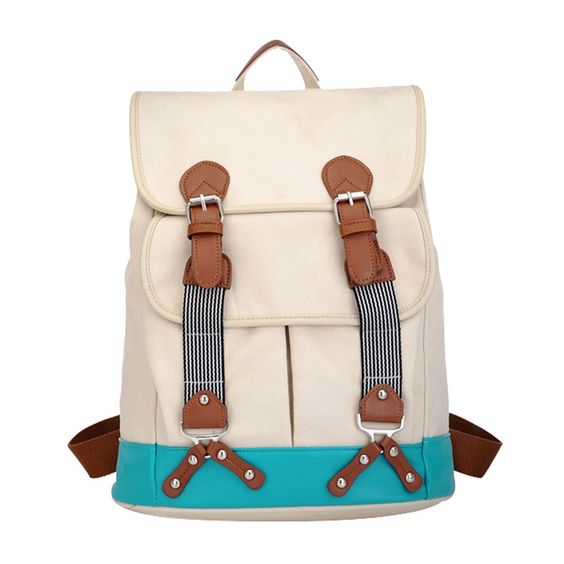 Large Canvas Backpack Fashion Travel Book Computer Bag [grxjy520274]