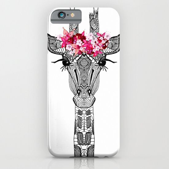 Giraffe! :: FLOWER GIRL iPhone & iPod Case