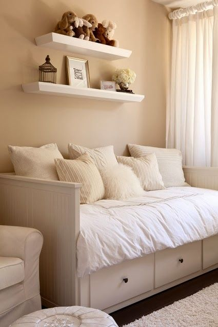 HEMNES Daybed frame with 3 drawers IKEA Sofa, single bed, bed for two and storage in one piece of furniture. Description from pinterest.com. I searched for this on bing.com/images