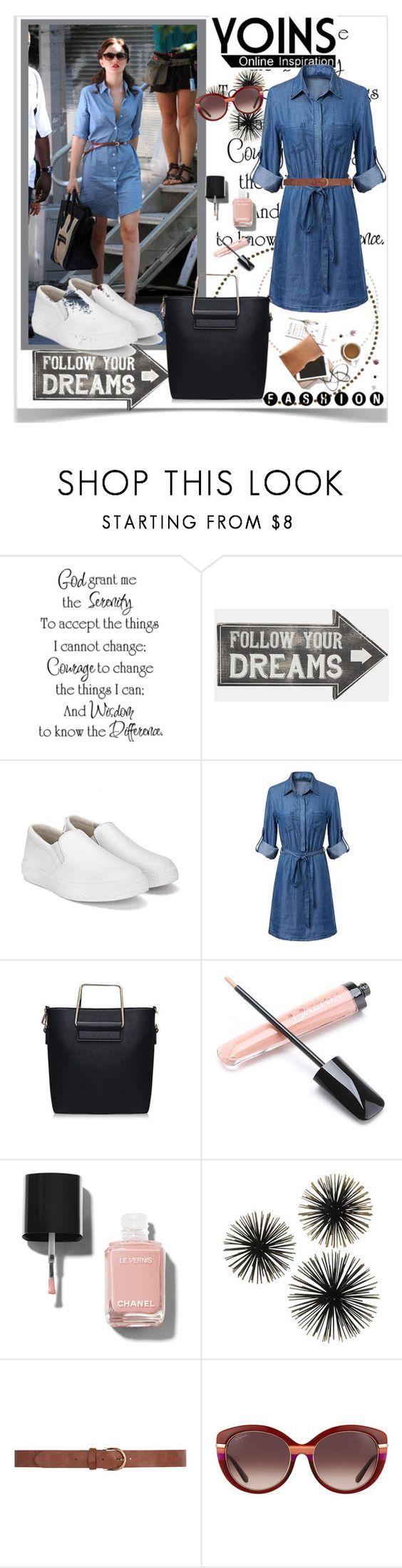 """""""Yoins  Contest"""" by ramiza-rotic ❤ liked on Polyvore featuring Sass & Belle, Chanel, Dorothy Perkins, Salvatore Ferragamo and yoins"""