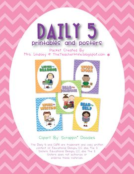 This packet includes free Daily 5 posters and printables! Enjoy!PLEASE NOTE: The Daily 5 and CAFE are trademark and copy written content of Edu...