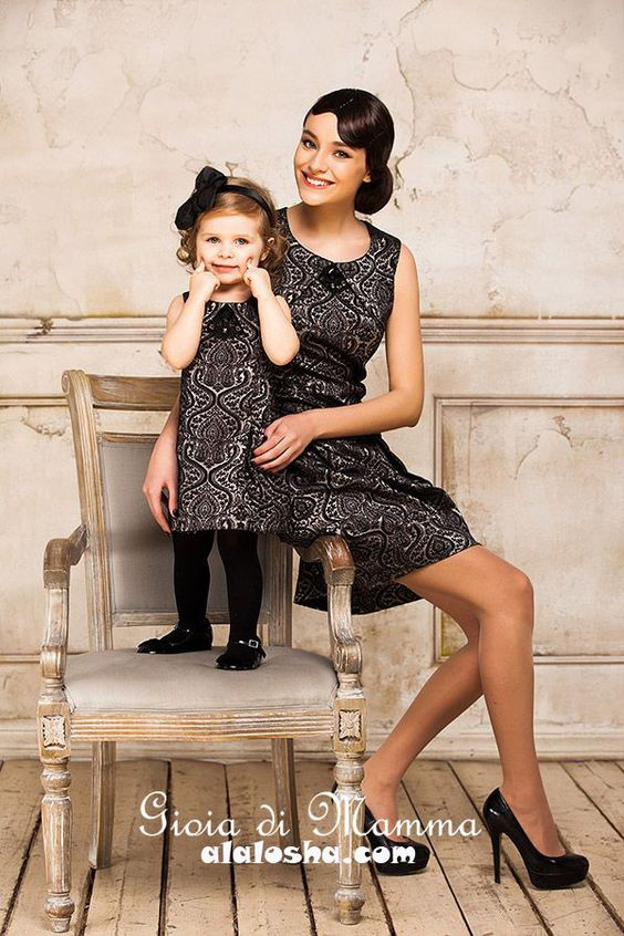 ALALOSHA: VOGUE ENFANTS: Mother-Daughter Fashion by Gioia di Mamma FW2014/2015: