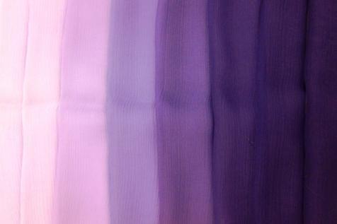 B&J Fabrics   Crinkle Ombré Silk Chiffon