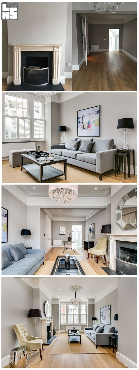 London Home Staging - Before and After: Modern 4 story House in Parsons Green, London More