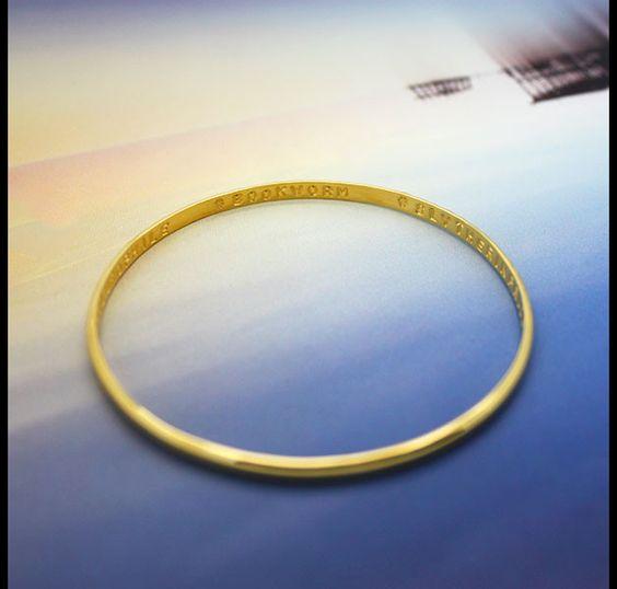 Weiteres - Geheime Armband personalisierte Nachricht gold - ein Designerstück von Promise_Designs bei DaWanda  text: namen & hochzeitsdatum, namen und Geburtsdatum der kids (einzeln)