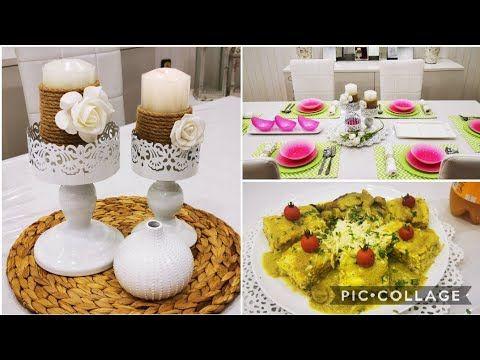 طاجين الأرز والدجاج طبق رمضاني تزيين الشموع تقديم طاولة وتنسيق الون تحفة Youtube Food Breakfast Ramadan