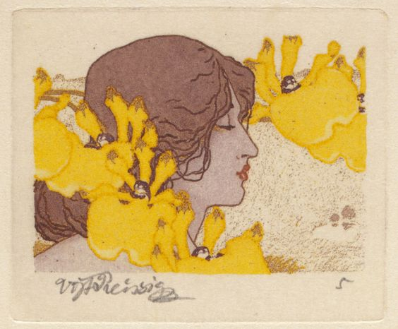 Seven Orchids series -color etching -1913 Vojtech Preissig | Indianapolis Museum of Art: