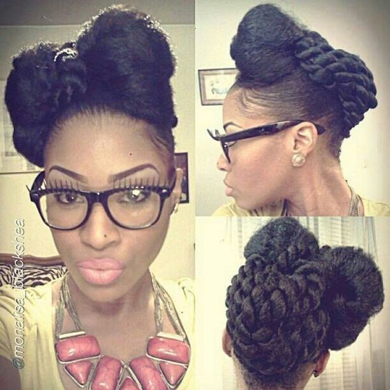 Beautiful Protective style/updo: