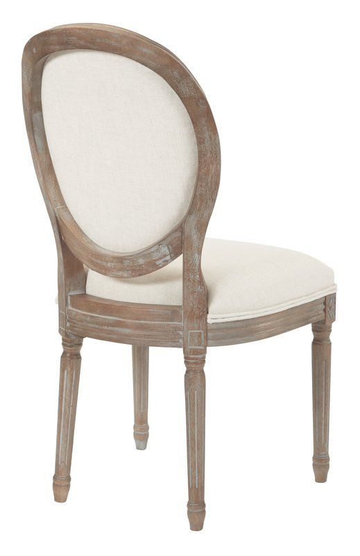 Dunmurry Oval Back Dining Side Chair Dining Room Chair Cushions Fabric Dining Chairs Upholstered Dining Chairs Round back dining room chairs