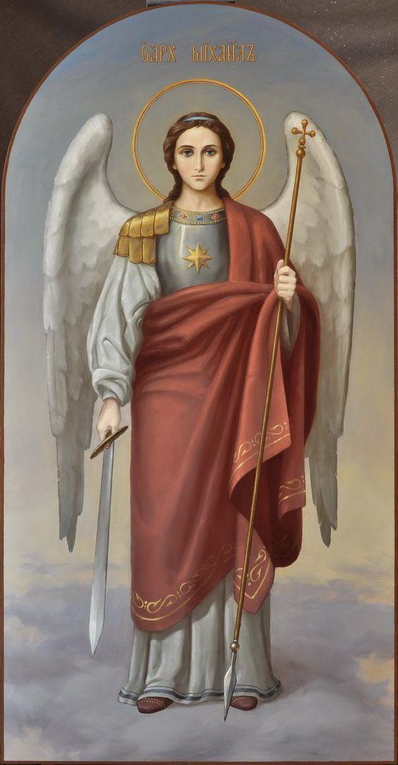 Архистратиг Божий Михаил, икона Архангела в академическом стиле