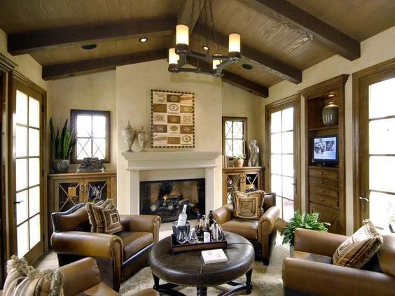 Wonderful Fireplaces In The Dining Room For Cozy And Warm: Warm, Inviting Living Room: A Beautiful Fireplace And