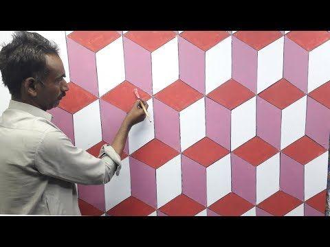 3d Wall Decoration Effect 3d Wall Painting 3d Wall Texture New Design Ideas Interior Design Youtube In 2020 3d Wall Painting Wall Painting 3d Wall