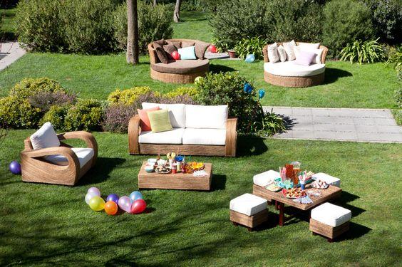 Muebles de terraza de Rattán para mi