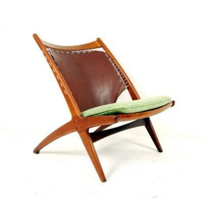 Fredrik Kayser Cross Chair 1950's for Rastad.