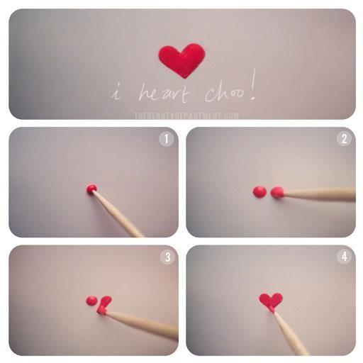 valentine nail art easy