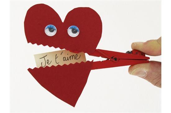 Pince linge coeur bricolage pinterest - Pinterest st valentin bricolage ...