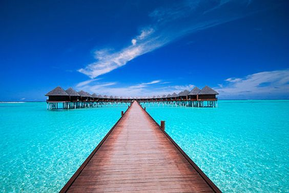 Probably Bora Bora. This looks so wonderful right now! I guess I could say that every day...
