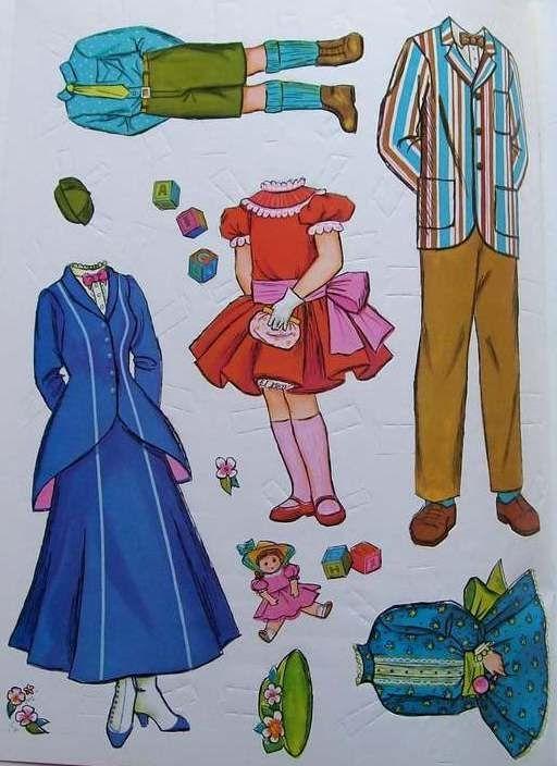 Bonecas de Papel: Mary Poppins