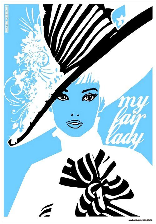 """A Polish poster featuring my favorite dress worn by Audrey Hepburn in the movie """"My Fair Lady"""":"""