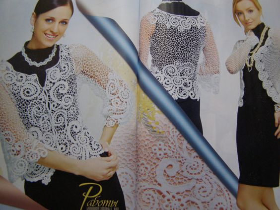 Lace gloves cardigan dress jacket skirt Crochet patterns by sneg78