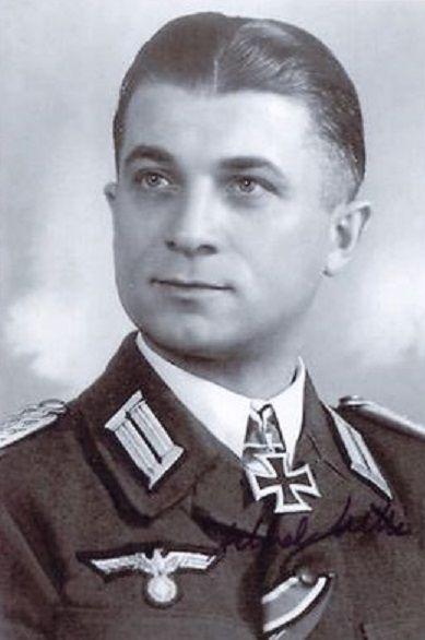✠ Alfred Hille (November 22nd, 1908 - September 11th, 1996) RK 21.04.1945 Hauptmann d.R. Kdr I./Fhj-Gren.Rgt 1237 und Fhr. e. Kgr. im V. SS.-Geb.Korps