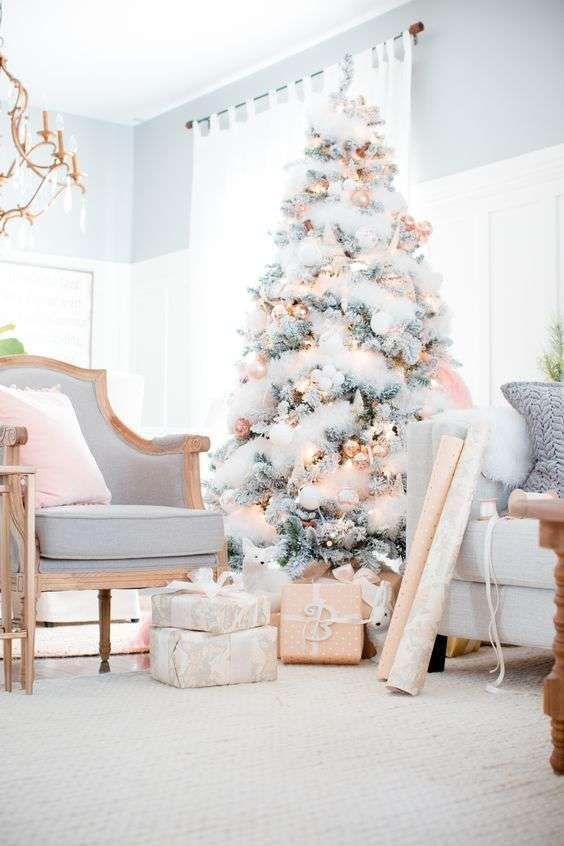 Albero di Natale bianco - Albero di Natale romantico