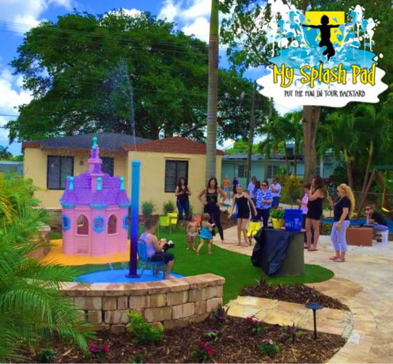 Backyard Crashers Sign Up: This Is One Of Our Portable Splash Pad Platform With A