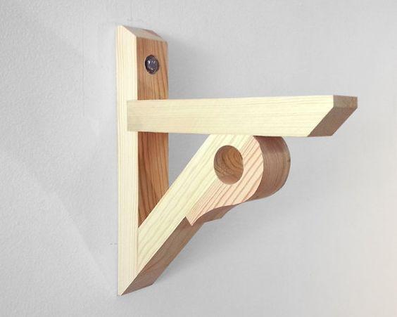 Shelf Bracket Support With Curtain/Drapery Rod Holder (S4108MK2 ...
