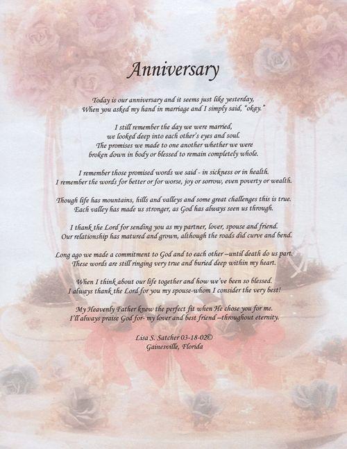 anniversary poem | ... Original Inspirational Christian ...