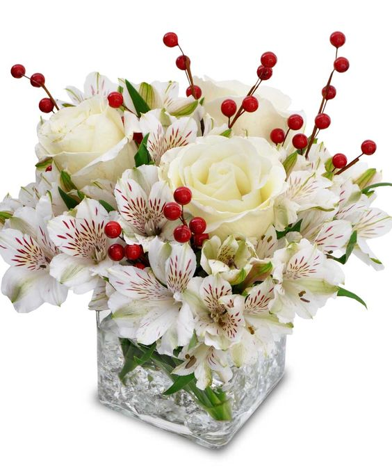 Holiday compact arrangement by Mission Viejo Florist