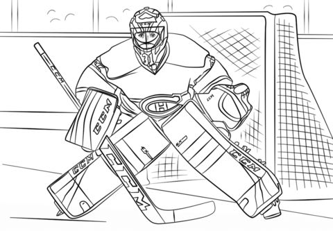 Coloriage De Hockey Hockey Drawing Hockey Goalie Coloring Pages