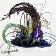 Peacock Mini Top Hat Victorian Steampunk | GypsyGoods - Accessories on ArtFire