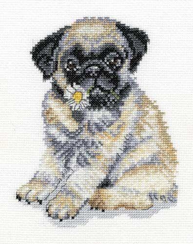 Counted Cross Stitch | Best Friends Pug Puppy Kit UK