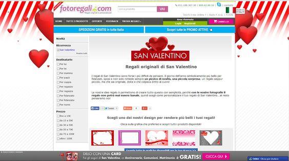 Stai cercando il regalo di San Valentino per la tua dolce metà ma non sai proprio da dove partire?   Scopri il nostro motore di ricerca per i tuoi regali, il personal shopper online. Clicca qui:  http://www.fotoregali.com/idee-regalo/san-valentino