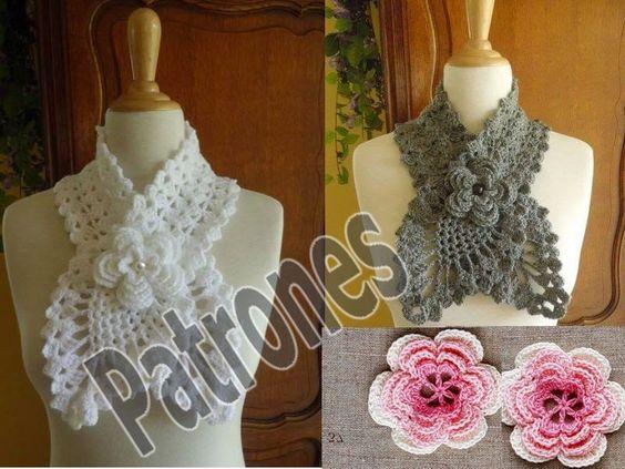 Mis Pasatiempos Amo el Crochet Accesorios, Bufandas estilo corbatas