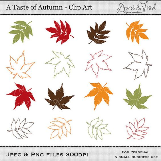 Fall Clip art images, Leaf clip art, Autumn clipart, royalty free clip art -- Instant Download on Etsy, £2.57