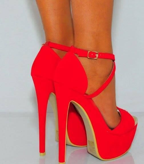 Bright Red heels, yes please! | SHOES, SHOES, SHOES!!! | Pinterest ...