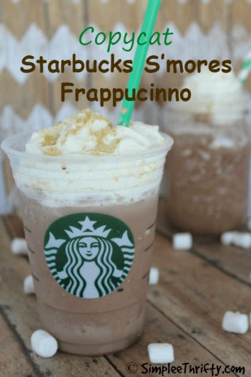 Enjoy this Copycat Starbucks S'mores Frappucinno recipe right at home and save money! Delicious summer beverage!