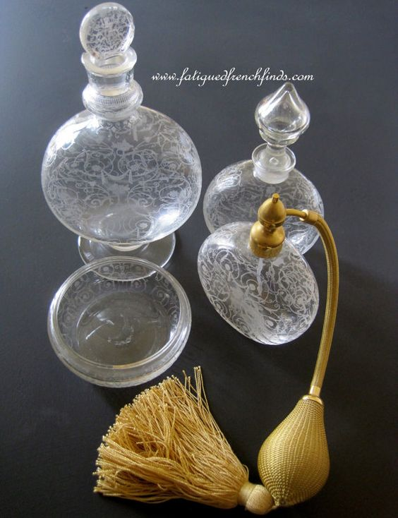 4 Piece Vintage Baccarat Michelangelo by FatiguedFrenchFinds