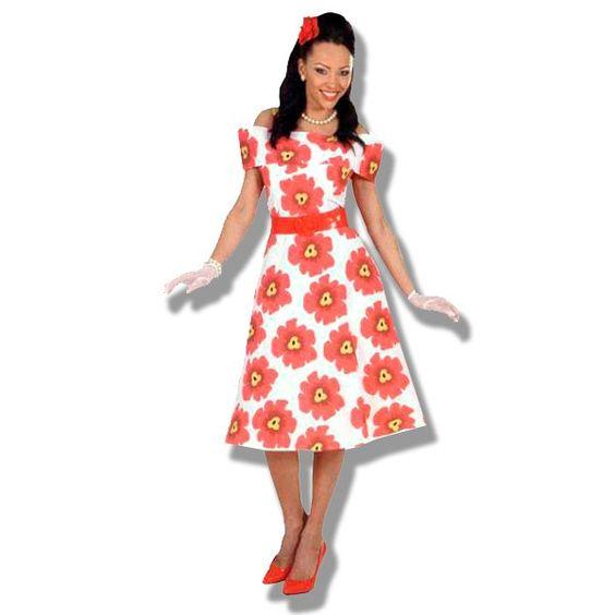 Disfraz vestido de mujer de los a os cincuenta - Los anos cincuenta ...