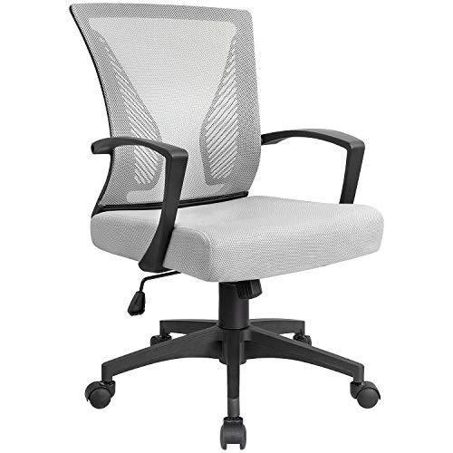 Kaimeng Mid Back Office Chair Ergonomic Computer Chair Desk Chair