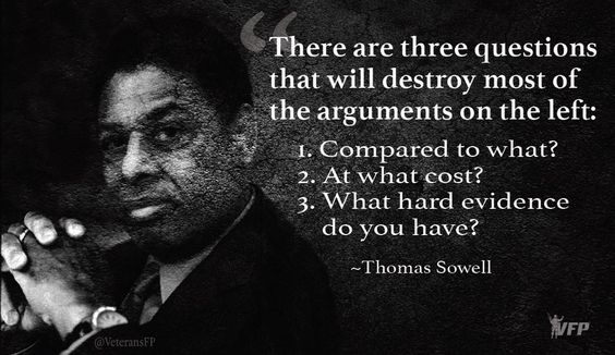 SOWELL:: 3 Questions that will destroy the Left. RT @ThinkConservatv:  #TCOT #C2GTHR #LNYHBT #TGDN