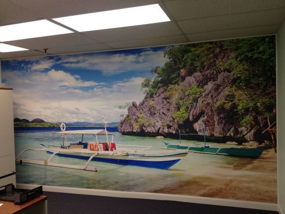 #Mural printed on our CanvasTac!
