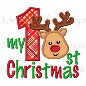 My 1st Christmas Applique Machine Embroidery Design NO:0247