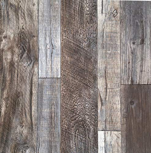 This Barn Wood Style Wallpaper Has More Of A Rustic Vibe That The Other Ones Adding It Will Sway The Ro Wood Plank Wallpaper Barnwood Wallpaper Wood Wallpaper