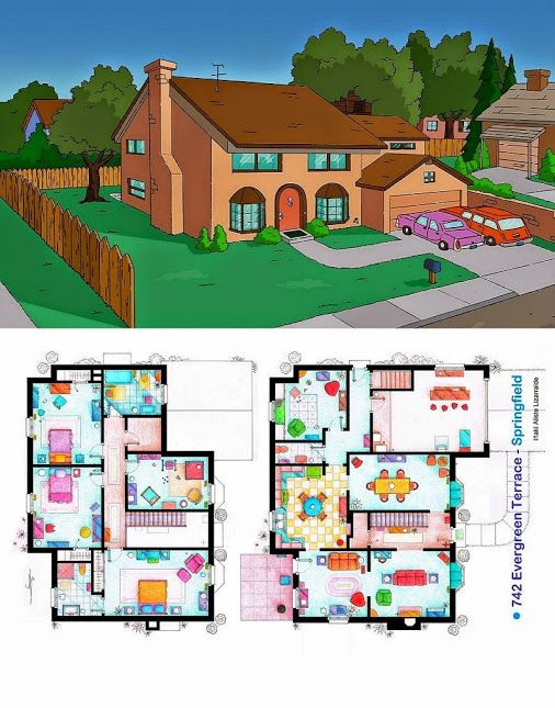 Ever wondered about the floor plan of the simpsons house for 742 evergreen terrace springfield