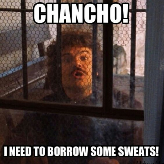 I need to borrow some sweats!!! loll.