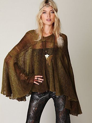 Free People Watson Cape at Free People Clothing Boutique - StyleSays